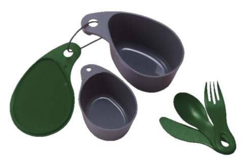 Biwakowy zestaw naczyń turystycznych Field Cup Set zielony Primus