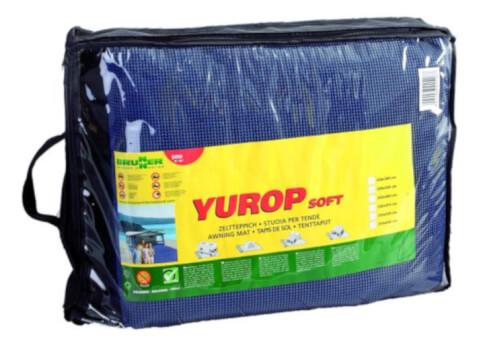 Kempingowa wykładzina podłogowa Yurop Soft 300 x 300 cm niebieska Brunner