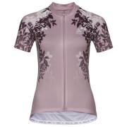 Koszulka techniczna Stand Up Element Print Odlo lila z motywem kwiatowym