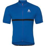 Koszulka rowerowa Shirt full zip Fujin Odlo niebieska