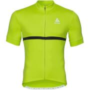 Koszulka rowerowa Shirt full zip Fujin Odlo limonkowa