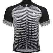 Koszulka rowerowa Stand Up collar full zip Fujin Print Odlo czarna