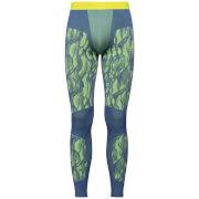 Kalesony męskie Suw Bottom Pant Performance Blackcomb Odlo zielono żółte