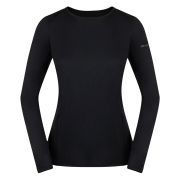 Damska bluzka z długim rękawem Litio W T - shirt LS Black Zajo czarna