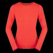 Damska bluzka z długim rękawem Litio W T - shirt LS Fluo Coral Zajo koralowa