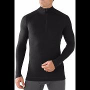 Bluzka M'S Merino 250 Baselayer 1/4 Zip Black Smartwool czarna