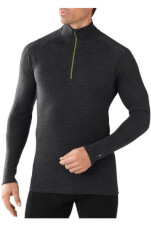 Bluzka M'S Merino 250 Baselayer 1/4 Zip Charcoal Heather Smartwool szara