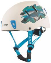 Kask wspinaczkowy CAMP Armour biały/błękitny typ ABS damski dziecięcy
