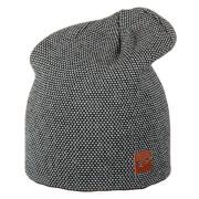 Modna czapka miejska Gosta Viking czarno biała