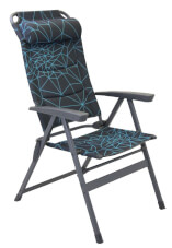 Uniwersalne krzesło składane Monaco Portal Outdoor czarno turkusowe