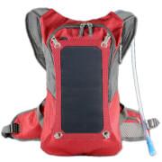Plecak z panelem solarnym 7W PowerNeed i bukłakiem czerwony