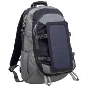 Plecak z ładowarką słoneczną 6,5W PowerNeed szary