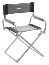 Składane kempingowe krzesło Smart czarne Brunner
