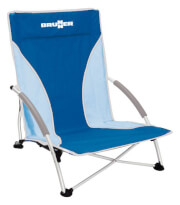 Składane krzesło plażowe Cuba niebieskie Brunner