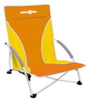 Składane krzesło plażowe Cuba pomarańczowe Brunner