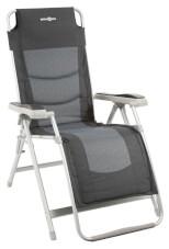 Składane kempingowe krzesło relaksacyjne Kerry Swan szaro czarne Brunner