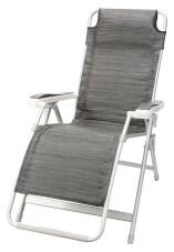 Składane kempingowe krzesło relaksacyjne Kerry Swan ciemnoszare Brunner