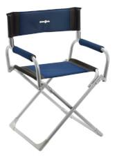 Kempingowe krzesło składane Smart niebieskie Brunner