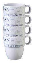 Zestaw turystycznych kubków z melaminy Blue Ocean Brunner