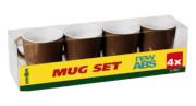Zestaw turystycznych kubków Mug Set ABS Chocolate brązowy Brunner