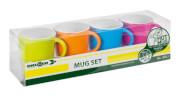 Zestaw turystycznych kubków Mug Set ABS Spectrum wielokolorowy Brunner
