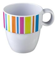 Turystyczny kubek z melaminy Mug Set Glamour biały Brunner
