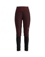 Elastyczne spodnie techniczne Pants Millennium Yakwarm Odlo bordowe
