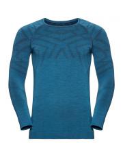 Koszulka techniczna Suw Top Natural Kinship Warm Odlo niebieska