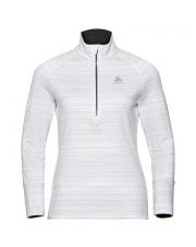 Bluza techniczna Midlayer 1/2 zip Silveretta Ceramiwarm Odlo biała