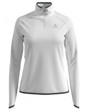 Bluza sportowa Midlayer 1/2 zip Carve Ceramivarm Odlo biała