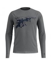 Koszulka techniczna z nadrukiem T - shirt Alliance Odlo szara nadruk