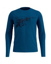 Koszulka techniczna z nadrukiem T - shirt Alliance Odlo niebieska nadruk