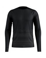 Koszulka techniczna z nadrukiem T - shirt Alliance Odlo czarna wzór