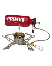 Kuchenka, palnik OmniFuell II z butelką na paliwo i pokrowcem firmy Primus