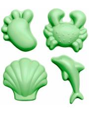 Foremki do piasku dla dzieci Scrunch Moulds Funkit World Pastelowy Zielony