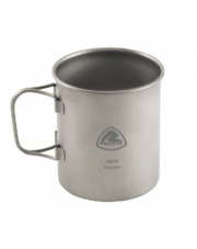 Kubek turystyczny Titanium Mug ze składanym uchwytem 450 ml marki Robens
