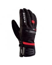 Męskie rękawice narciarskie Kuruk Viking czarne z czerwonym