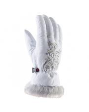 Młodzieżowe rękawice narciarskie Natty Viking białe