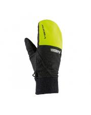 Rękawiczki sportowe bez palców Hadar Viking czarno limonkowe