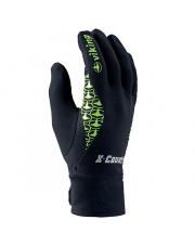Techniczne rękawiczki sportowe Zonda Viking czarne z zielonym