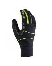 Rękawiczki sportowe Lahti Viking czarno limonkowe