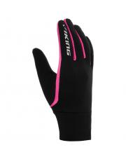 Rękawiczki sportowe do smartfona Foster Viking czarno różowe