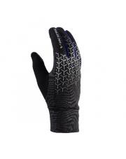 Rękawiczki sportowe dotykowe Orton Viking czarne z niebieskim