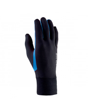 Rękawiczki sportowe dotykowe Runway Viking czarne z niebieskim