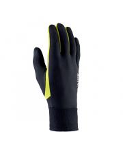 Rękawiczki sportowe dotykowe Runway Viking czarne z neonowym