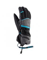Klasyczne rękawice do freeride Soren Viking szaro niebieskie