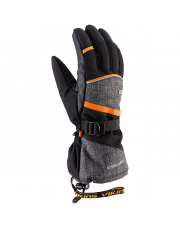 Klasyczne rękawice do freeride Soren Viking szaro pomarańczowe