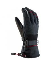 Rękawice narciarskie 2w1 Tux Viking czarne z czerwonym