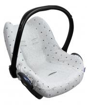 Pokrowiec do fotelika samochodowego 0+ Seat Cover Dooky Light Grey Crowns
