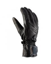 Klasyczne skórzane rękawice męskie Brixen Viking czarne
